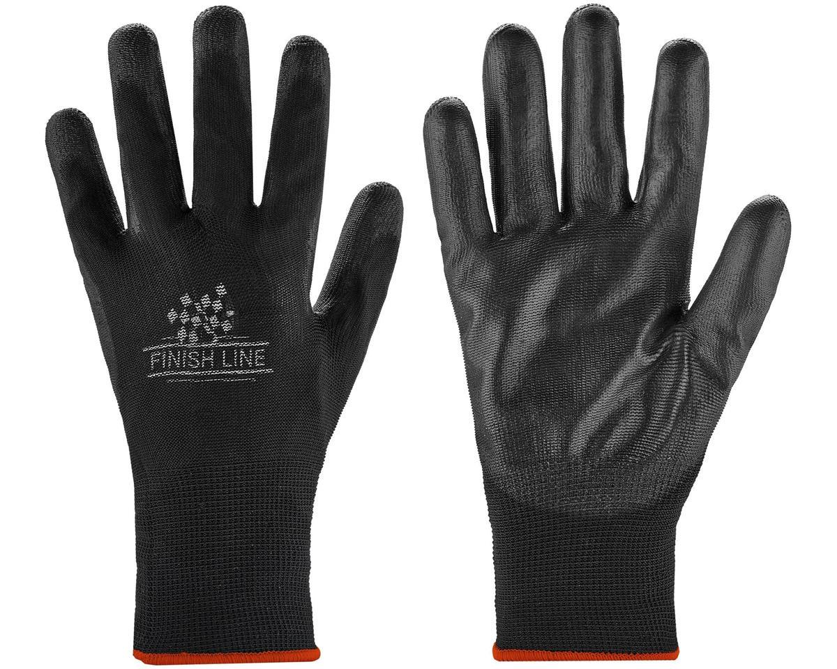 Finish Line Mechanic's Grip Gloves (Black) (S/M)
