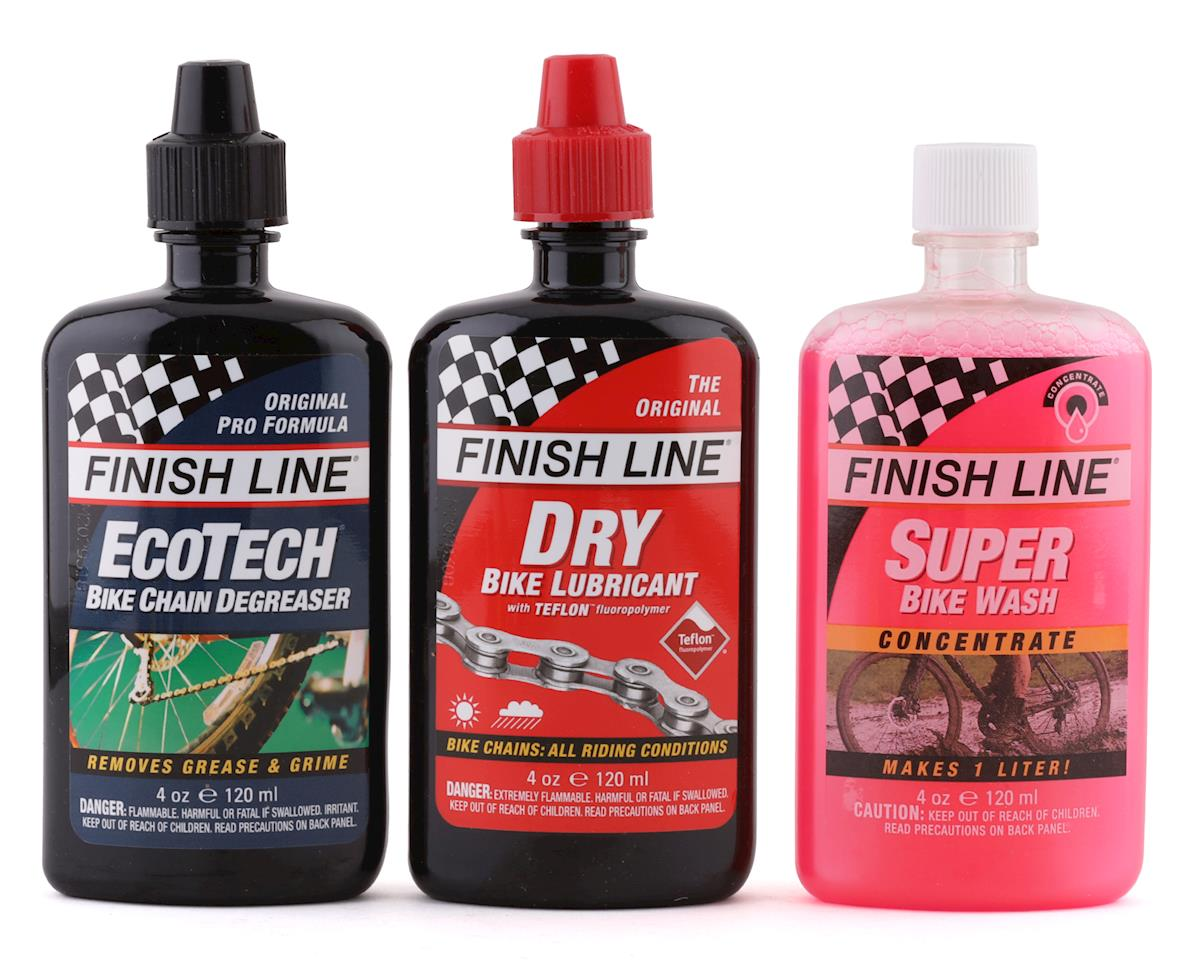 Finish Line Bike Care Value Pack, Includes DRY Chain Lubricant, EcoTech Degrease