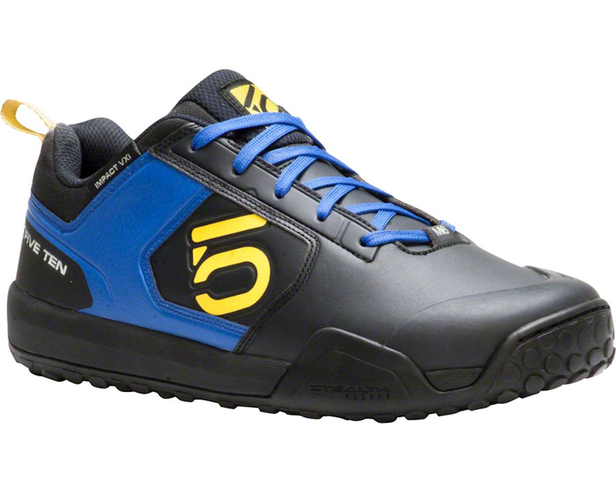 Impact VXI Flat Pedal Shoe: Blue/Yellow, 8