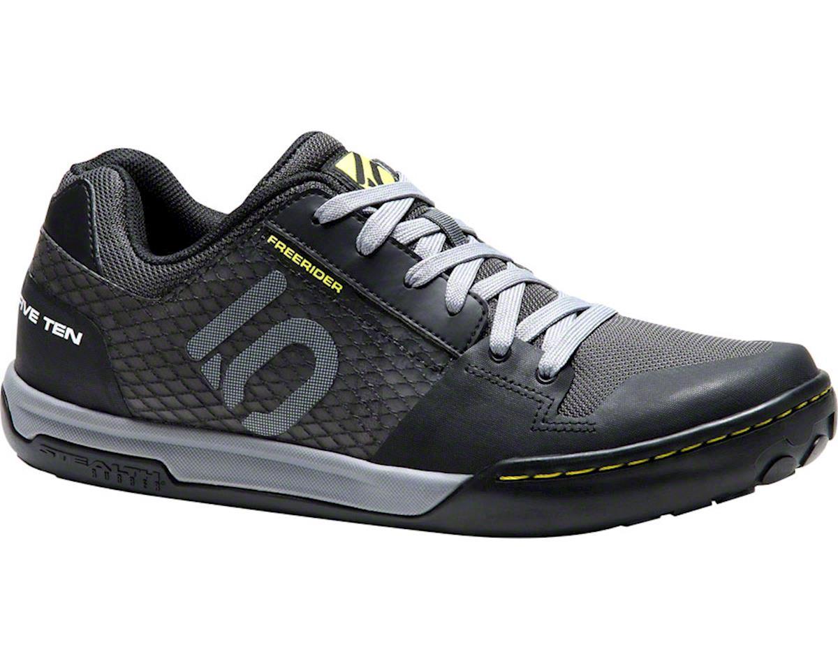 Freerider Contact Flat Pedal Shoe: Black/Lime, 11.5