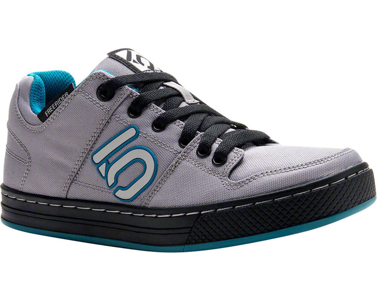 Women's Freerider Canvas Flat Pedal Shoe (Gray/Teal)
