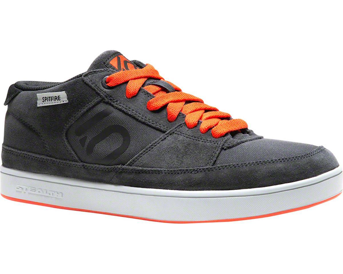 Spitfire Flat Pedal Shoe: Dark Gray/Orange, 11.5