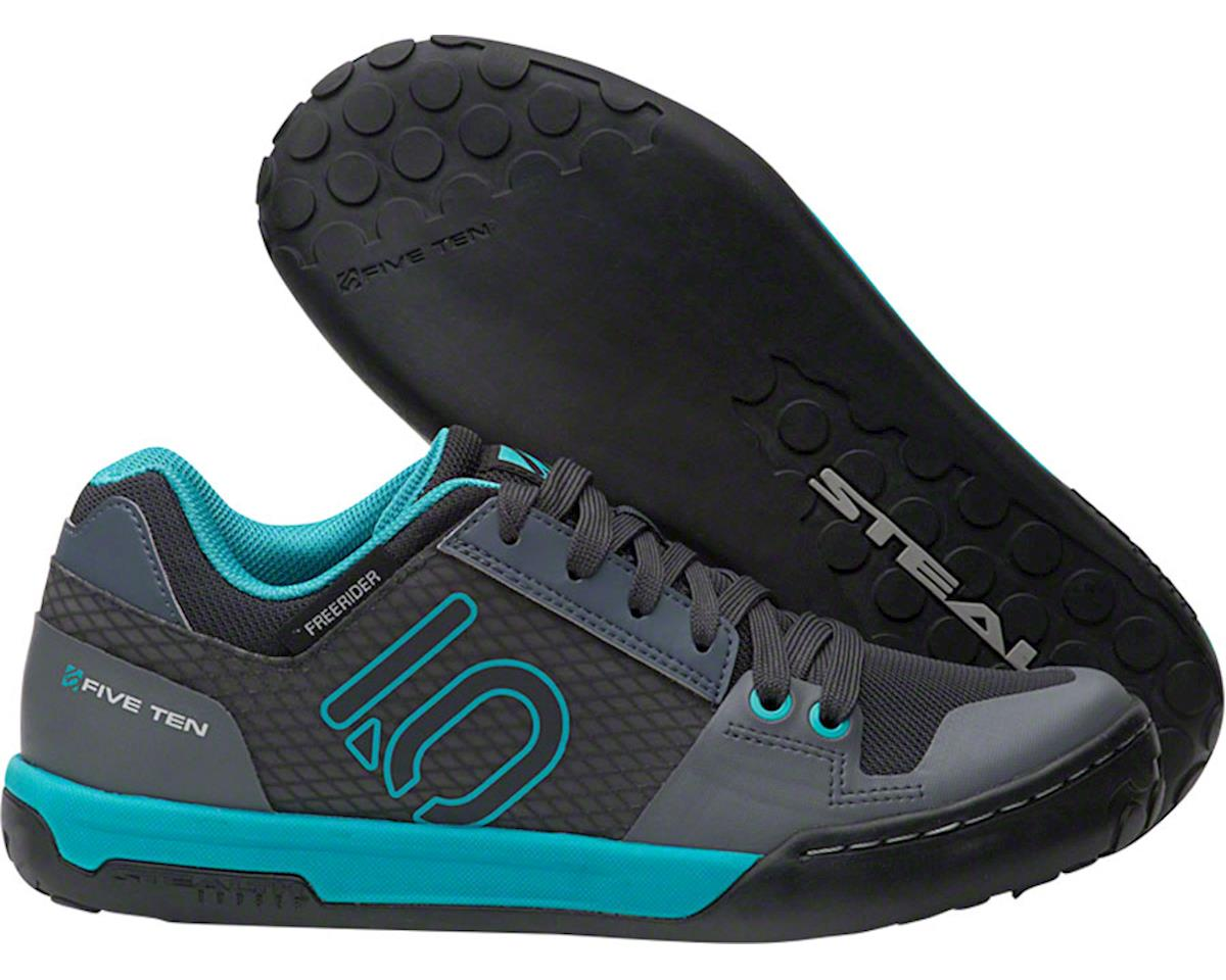 Five Ten Freerider Contact Women's Flat Shoe (Shock Green/Onix) (9)