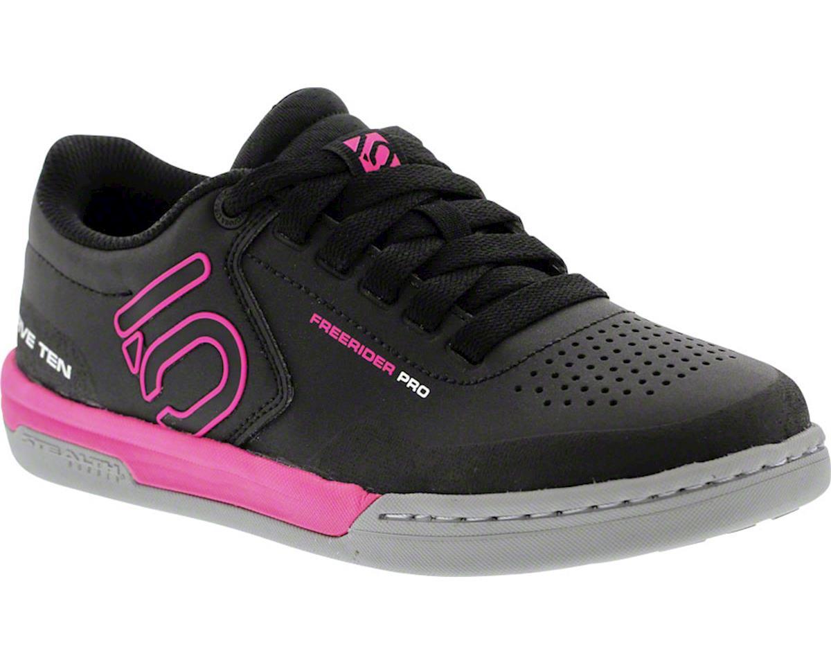Freerider Pro Women's Flat Pedal Shoe: Black/Pink 8.5