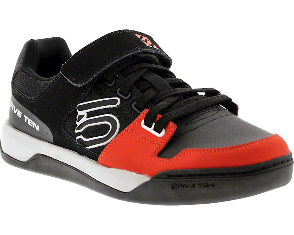 Hellcat Men's Clipless/Flat Pedal Shoe: Black/Red 7