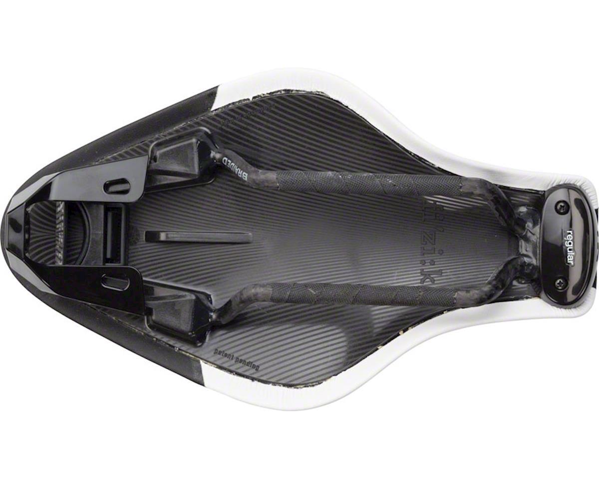 fizik Mistica 7 x 9 Braided Rail Regular Saddle (Black/White)