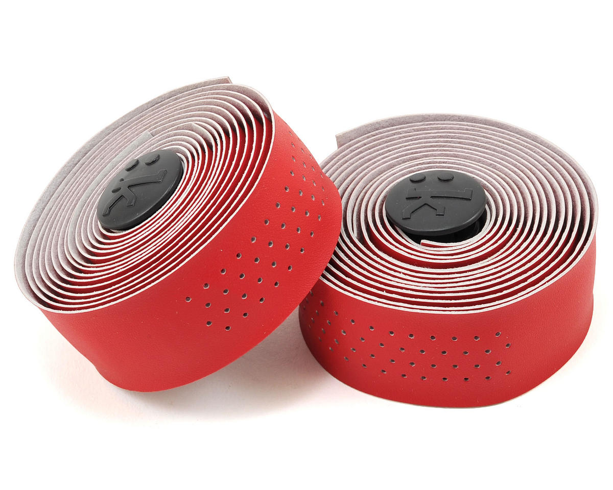 Superlight 2mm Thick Perforated Microtex Handlebar Tape (Bright Red)