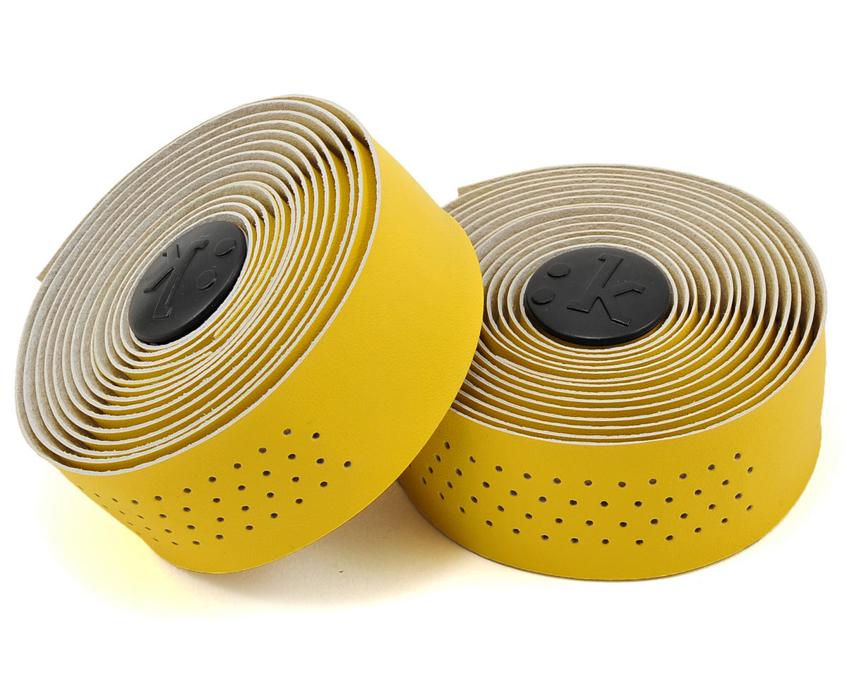 Superlight 2mm Thick Perforated Microtex Handlebar Tape (Bright Yellow)