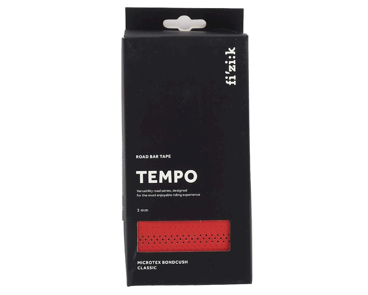 fizik Tempo Microtex Bondcush Classic Bar Tape (Red) (3mm Thick)