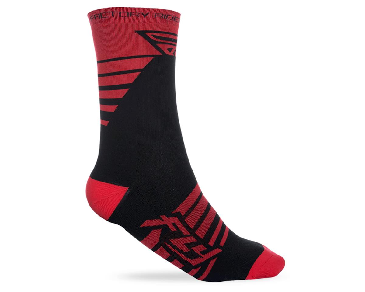 Fly Racing Factory Rider Sock (Red/Black) (L/XL)