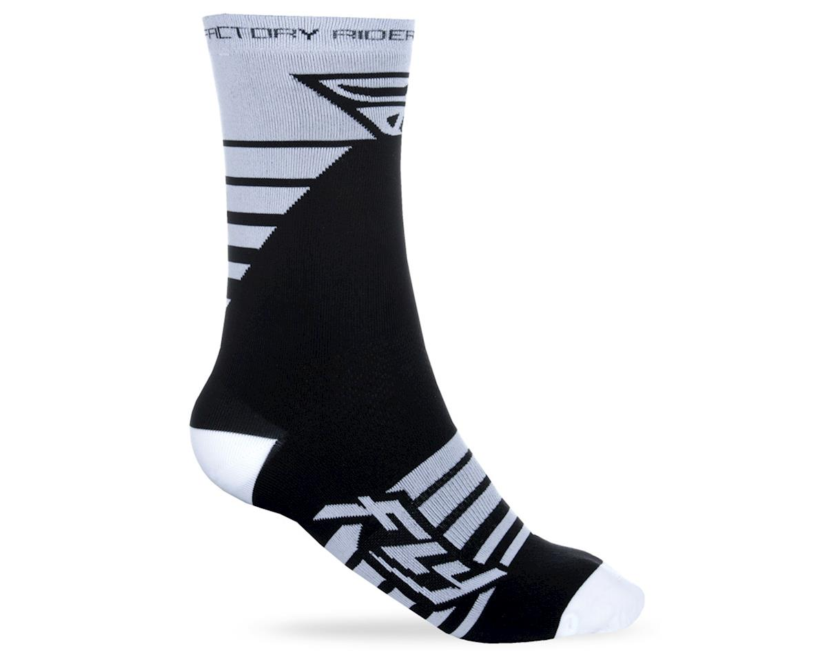 Fly Racing Factory Rider Sock (White/Black) (S/M)