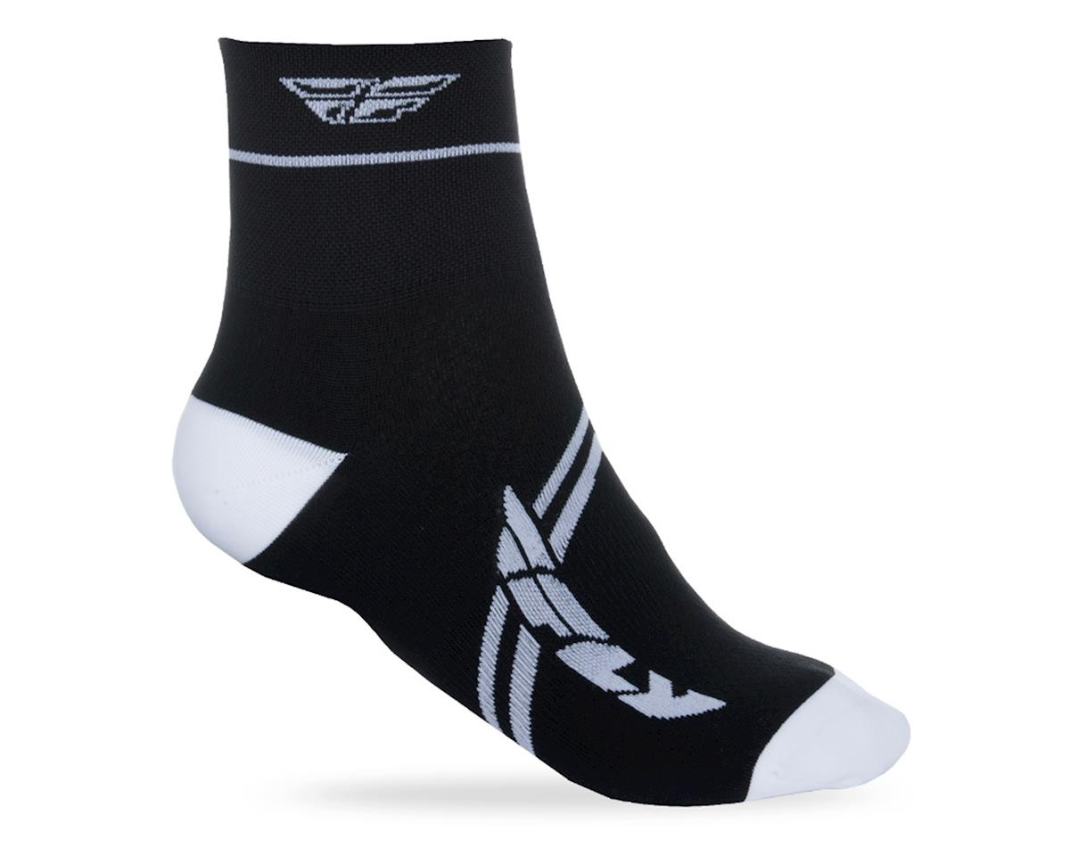 Fly Racing Action Sock (White/Black) (L/XL)