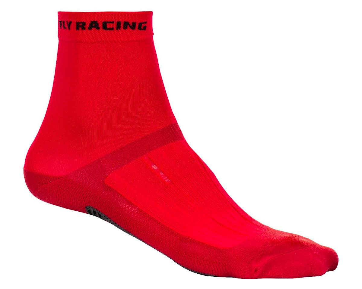 Fly Racing Action Sock (Red/Black) (S/M)