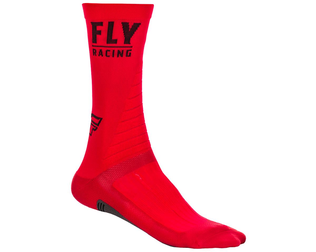 Fly Racing Factory Rider Socks (Red/Black) (S/M)