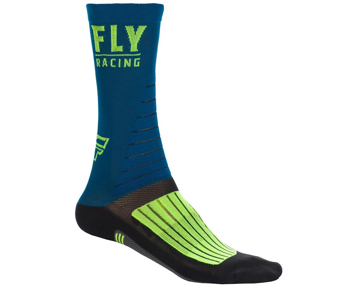 Fly Racing Factory Rider Socks (Navy/Hi-Vis/Black) (S/M)