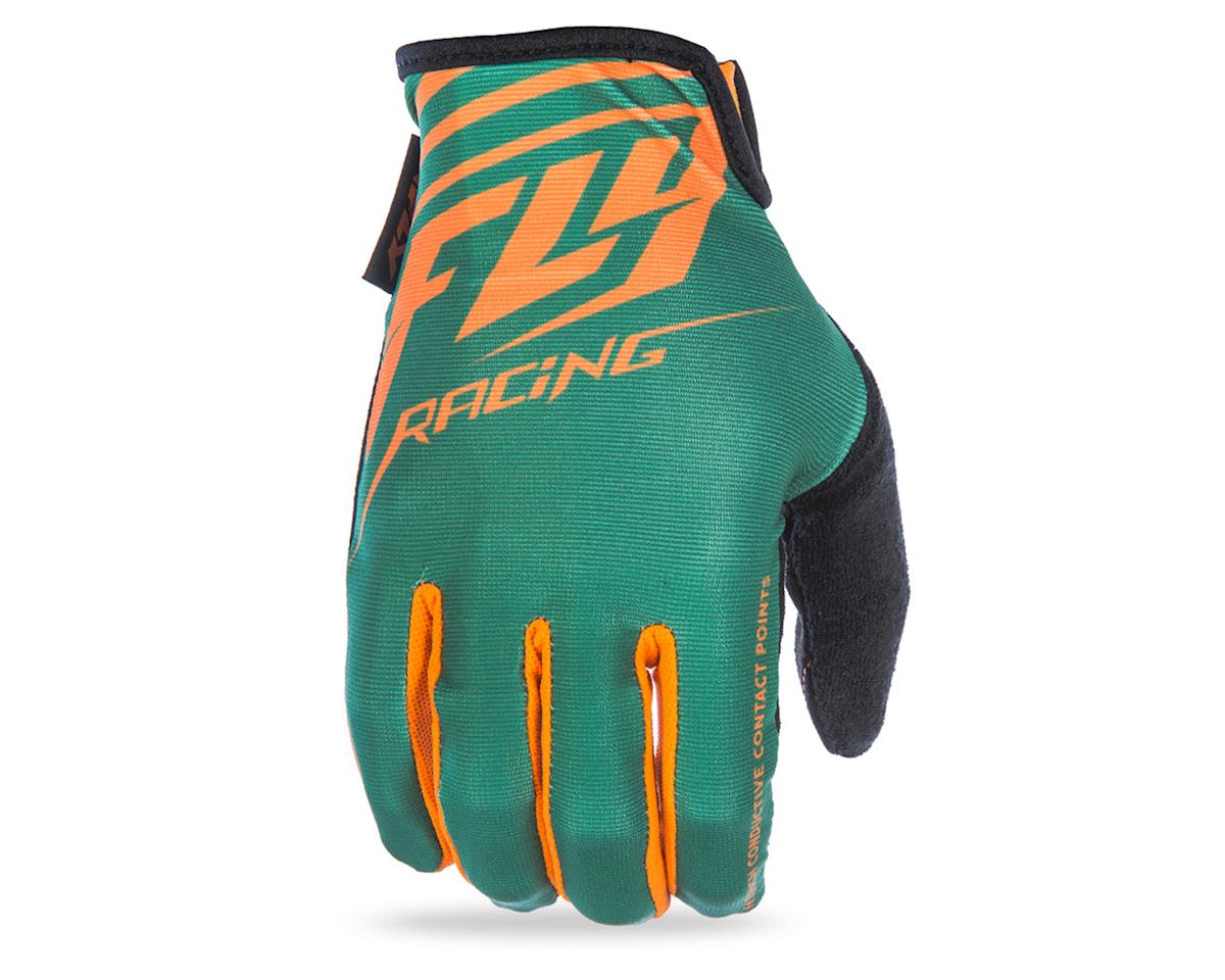 Fly Racing Media MTB Glove (Green/Orange)