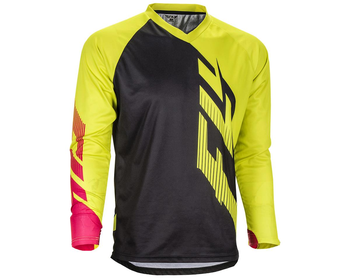 Fly Racing Radium Jersey (Black/Lime/Pink) (L)