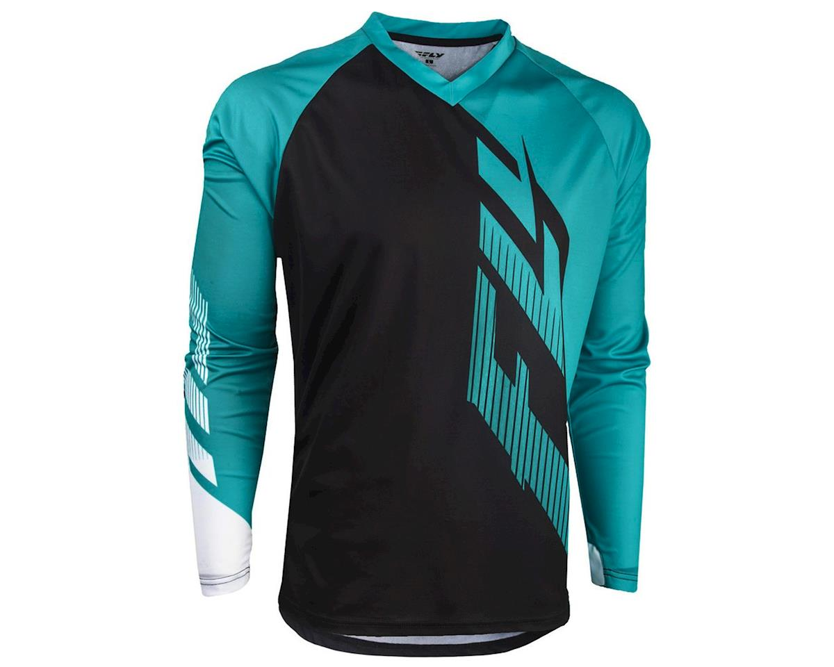 Fly Racing Radium  Jersey (Black/Teal/White) (L)