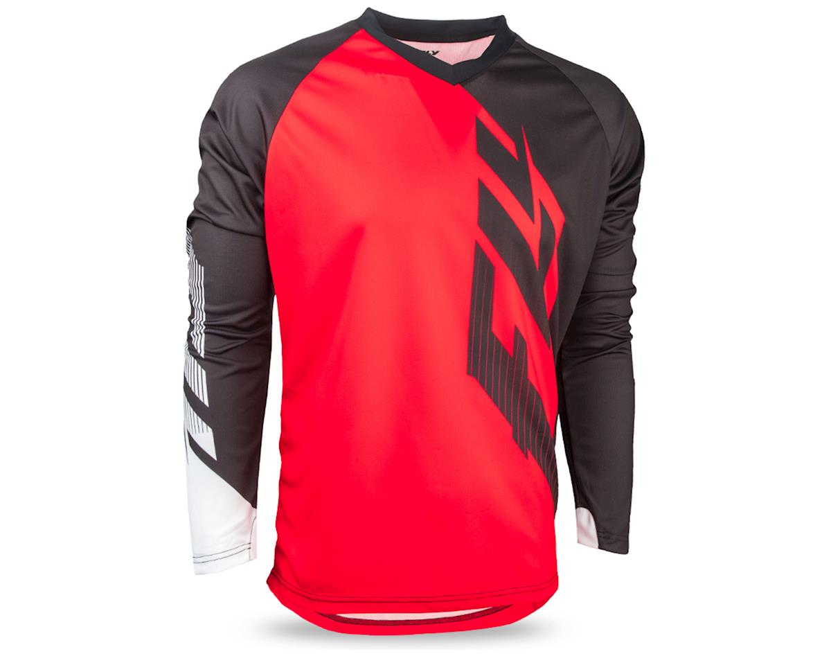 Fly Racing Radium Men's Long Sleeve MTB Jersey (Red/Black/White) (M)