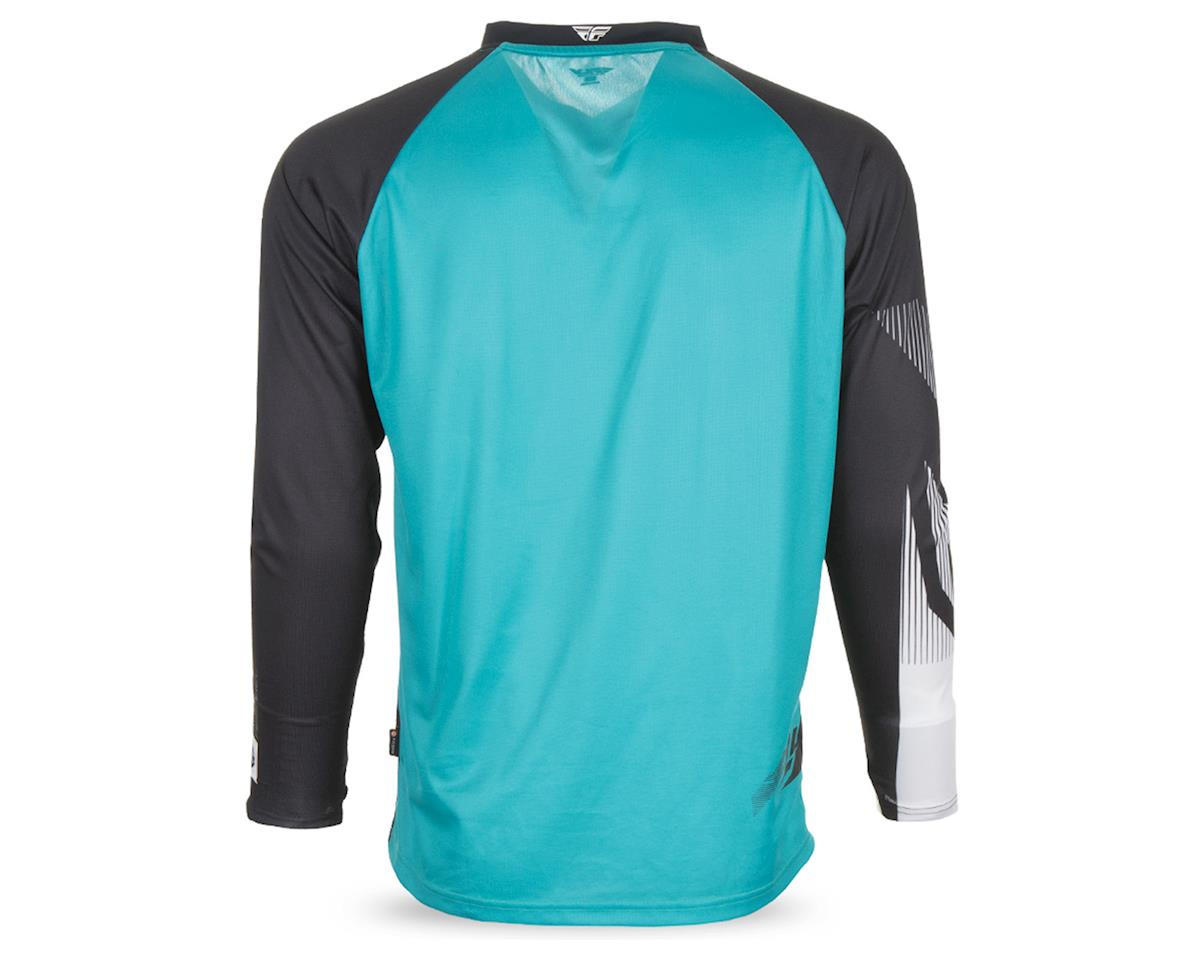 Fly Racing Radium Men's Long Sleeve MTB Jersey (Black/Teal/White) (L)