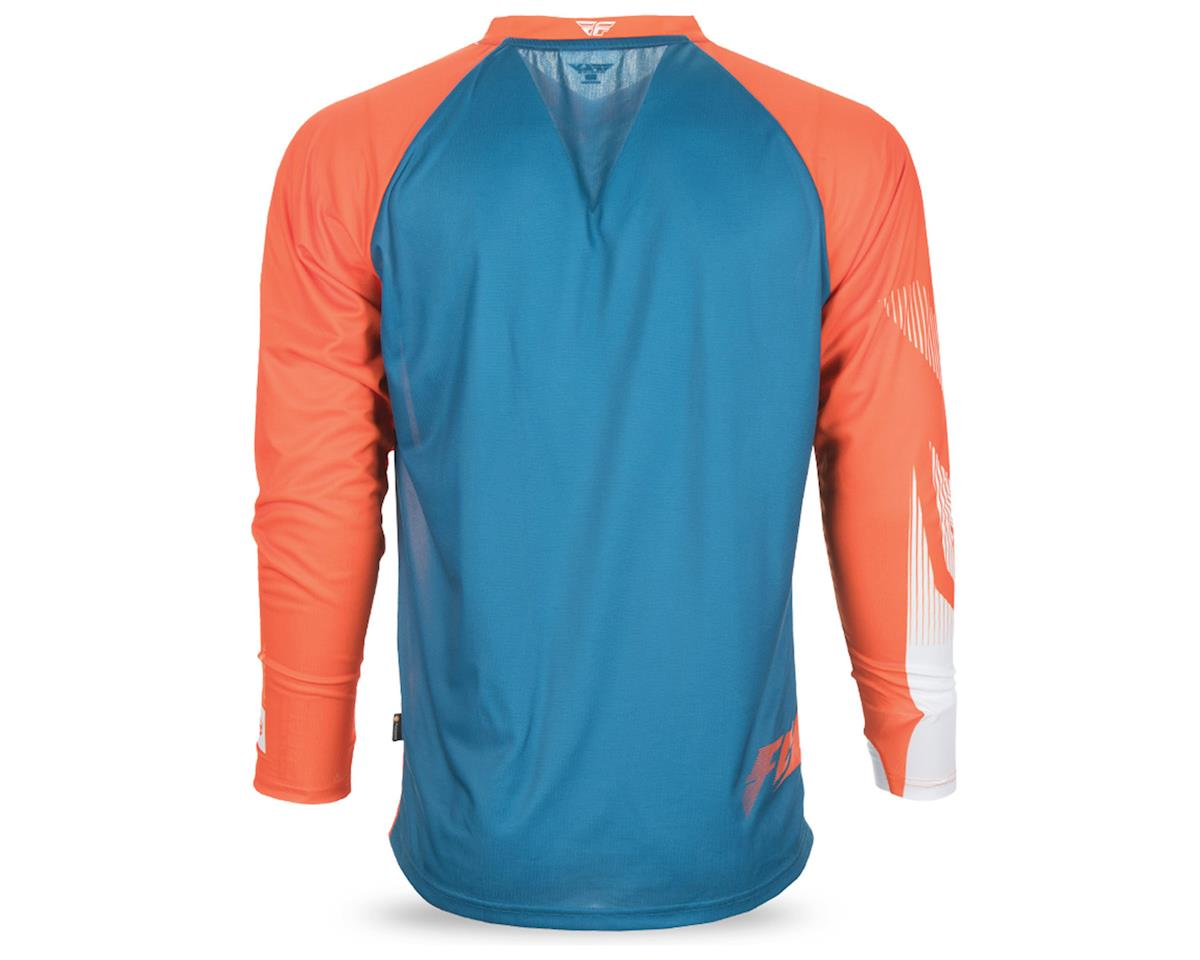 Fly Racing Radium Men's Long Sleeve MTB Jersey (Teal/Orange/White) (M)