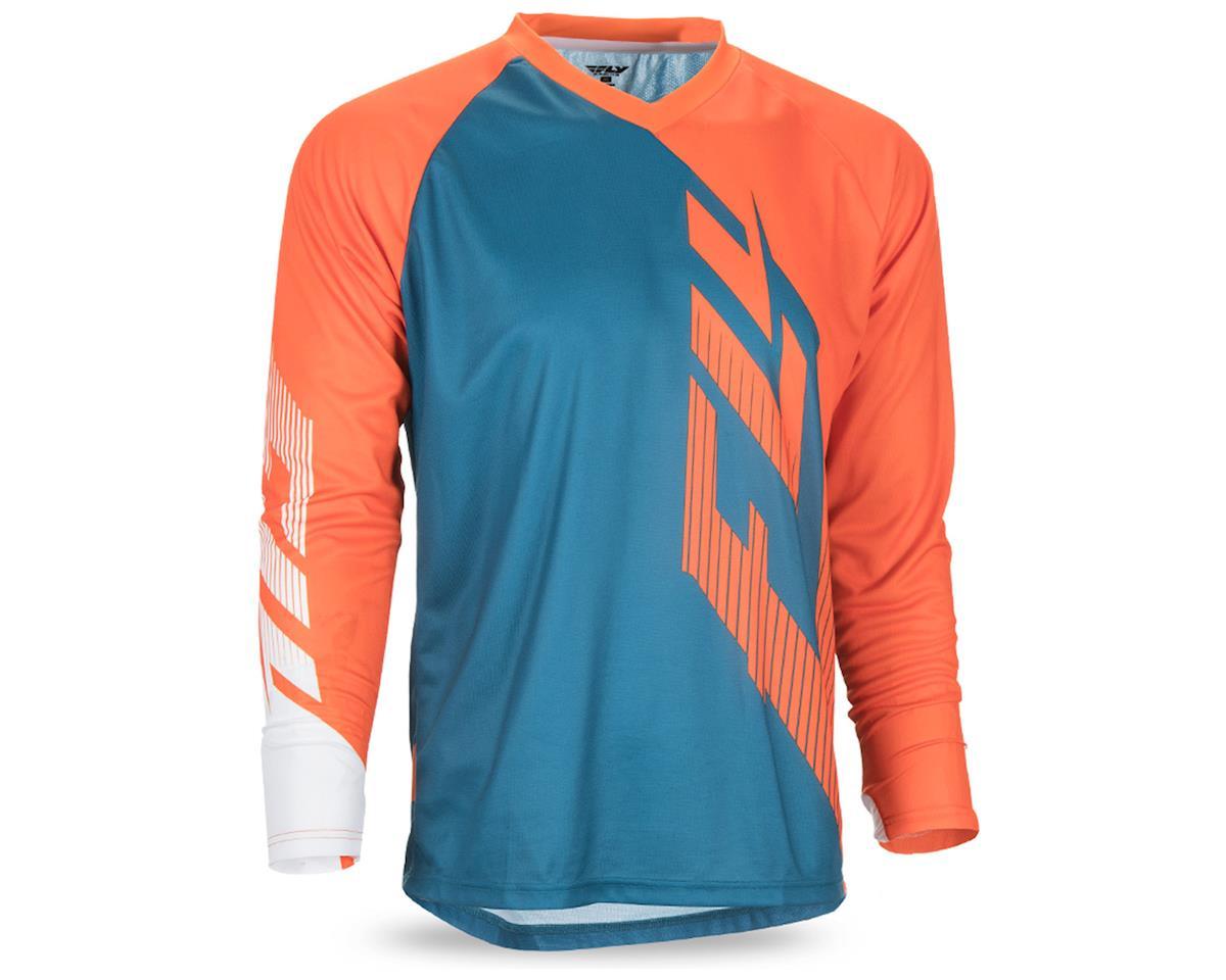 Fly Racing Radium Men's Long Sleeve MTB Jersey (Teal/Orange/White) (XL)