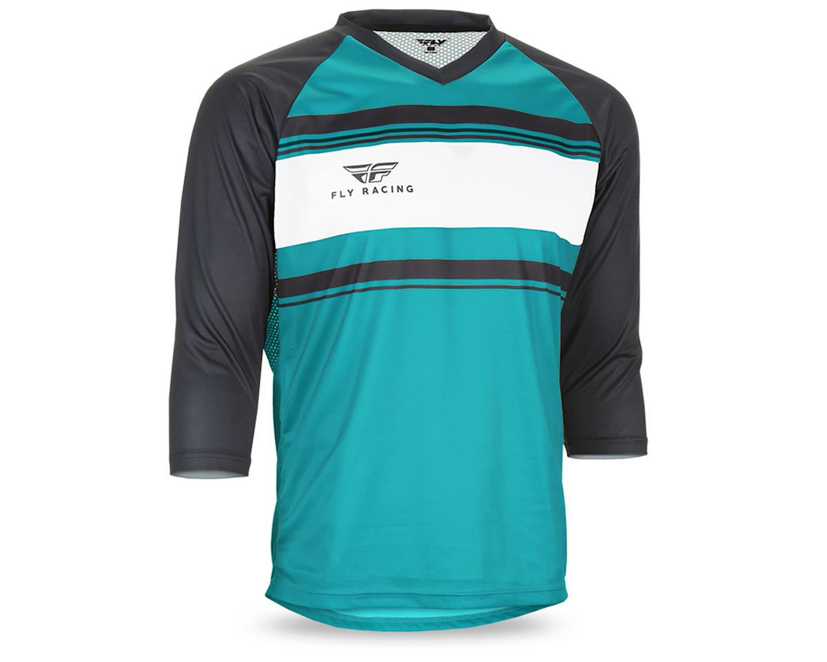 Fly Racing Ripa Men's 3/4 Sleeve MTB Jersey (Teal/Black/White) (L)