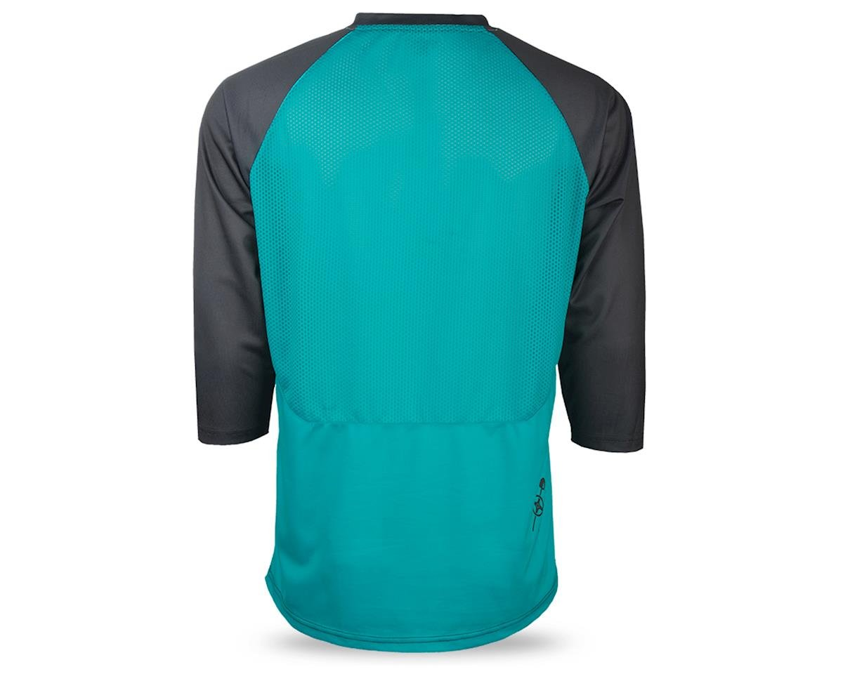 Fly Racing Ripa Men's 3/4 Sleeve MTB Jersey (Teal/Black/White) (M)