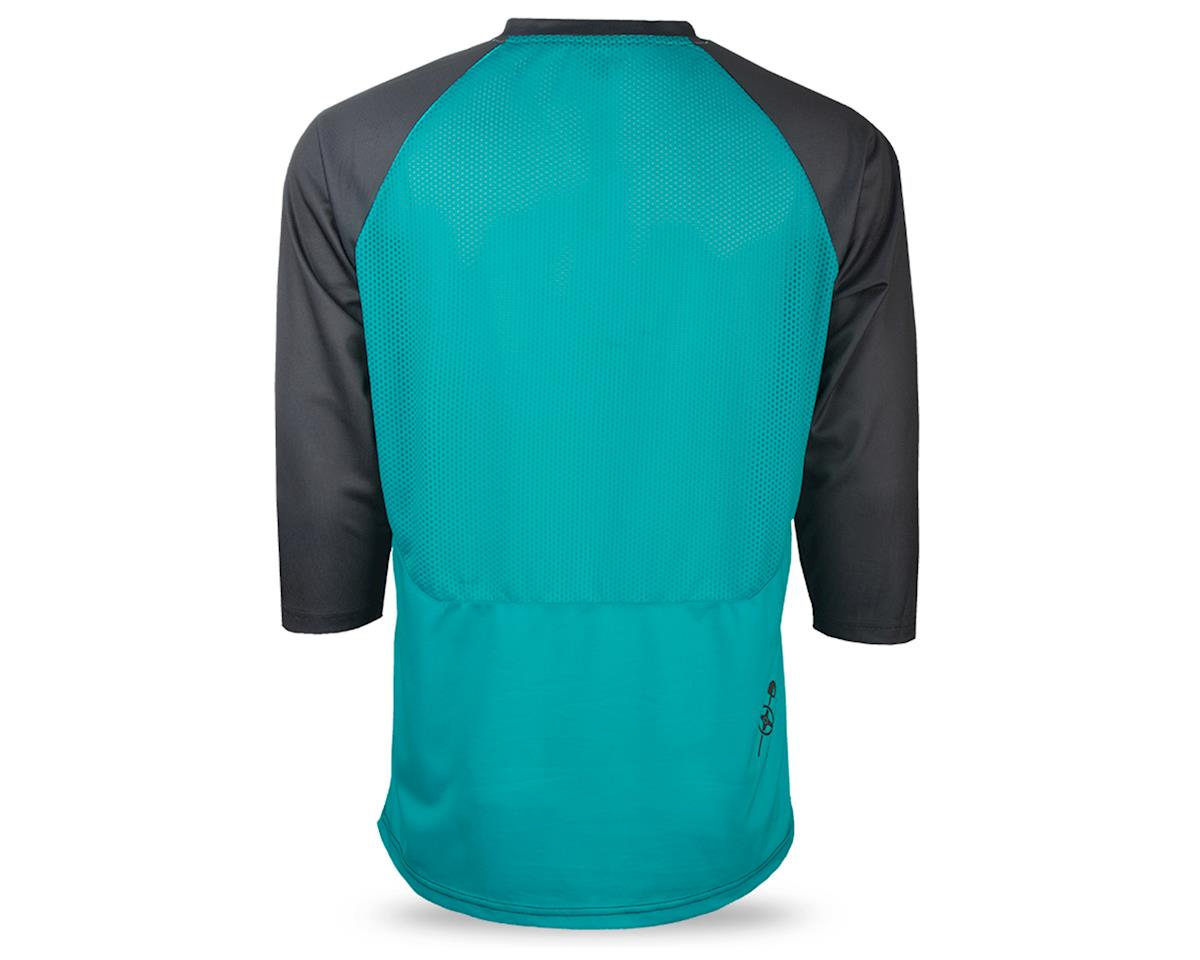 Image 2 for Fly Racing Ripa Men's 3/4 Sleeve MTB Jersey (Teal/Black/White) (XL)