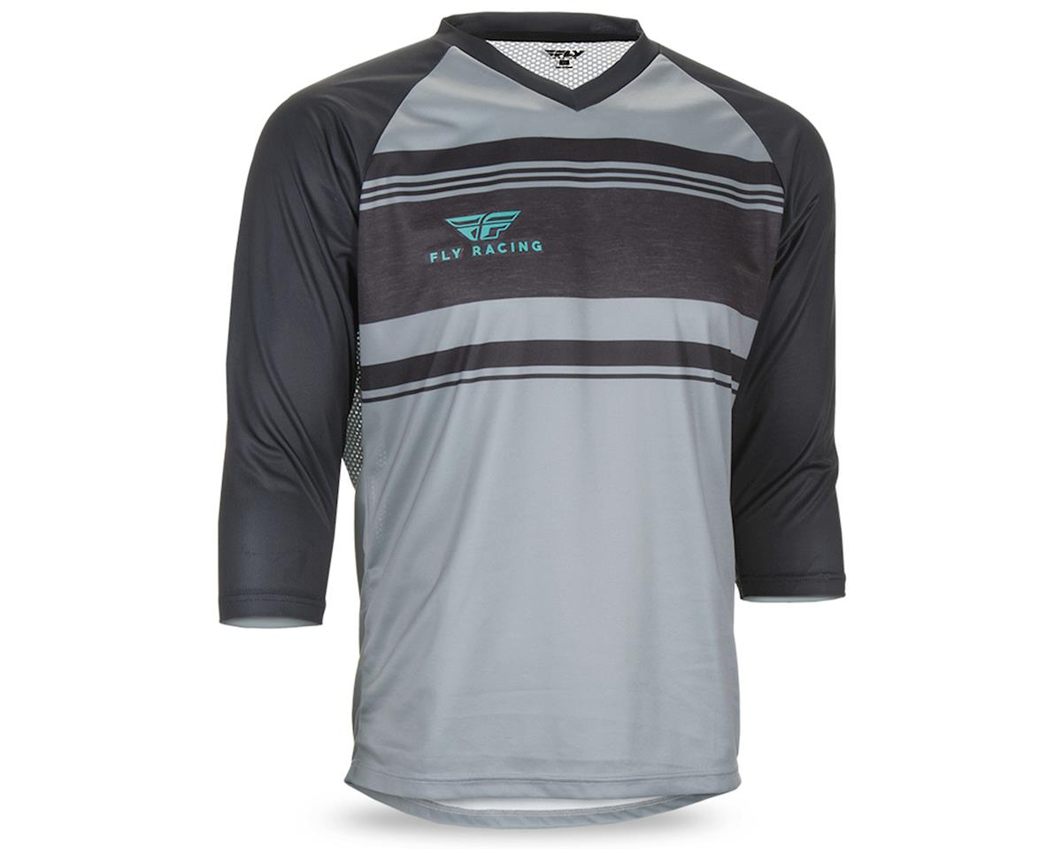 Fly Racing Ripa Men's 3/4 Sleeve MTB Jersey (Grey/Heather/Black/Teal) (L)