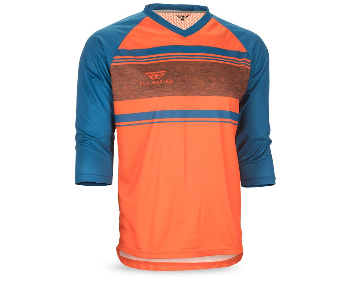 Fly Racing Ripa Men's 3/4 Sleeve MTB Jersey (Orange/Heather/Dark Teal) (L)