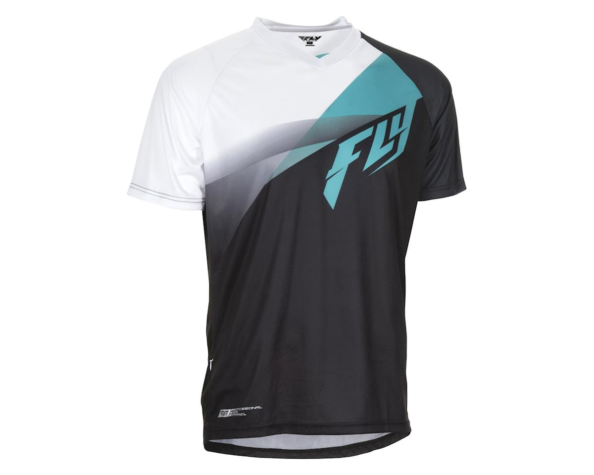 Fly Racing Super D Jersey (Blackl/White/Blue) (L)