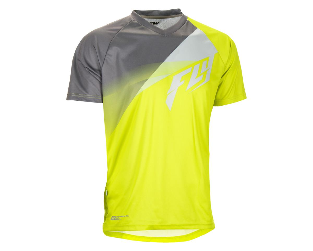 Fly Racing Super D Jersey (Yellow/Silver/Grey) (XL)