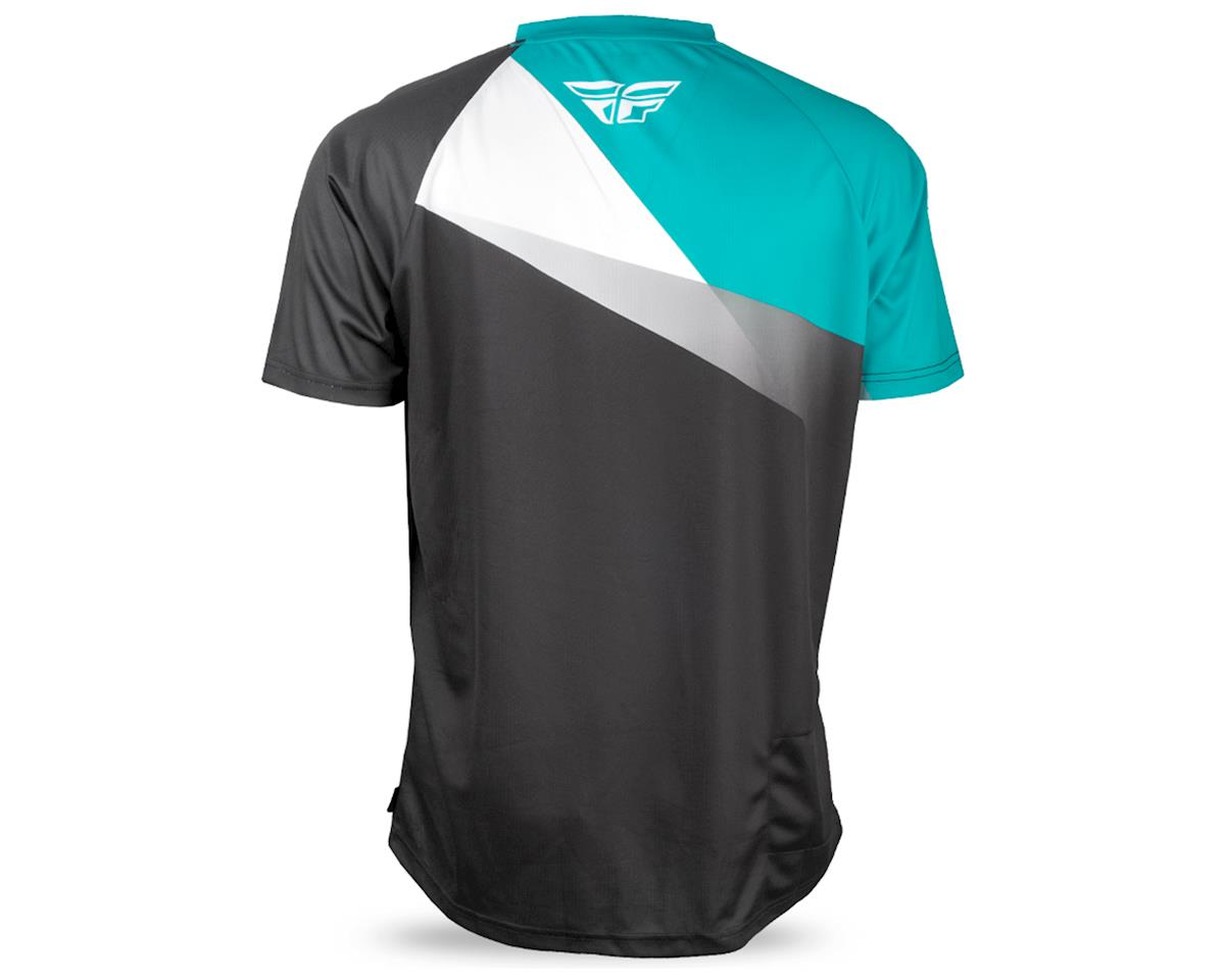Fly Racing Super D Jersey (Black/White/Teal) (XL)