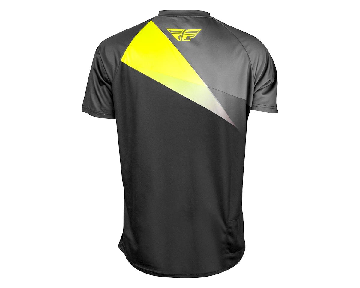 Fly Racing Super D Jersey (Black/Lime/Grey) (XL)