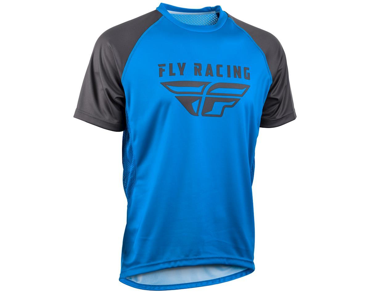 Fly Racing Super D Jersey (Blue/Charcoal) (L)
