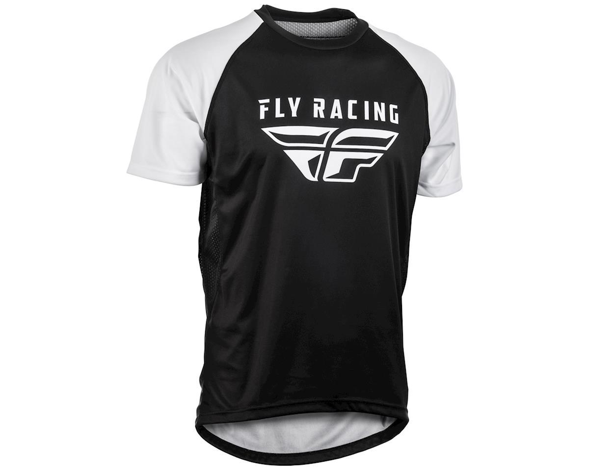 Fly Racing Super D Jersey (White/Black) (L)