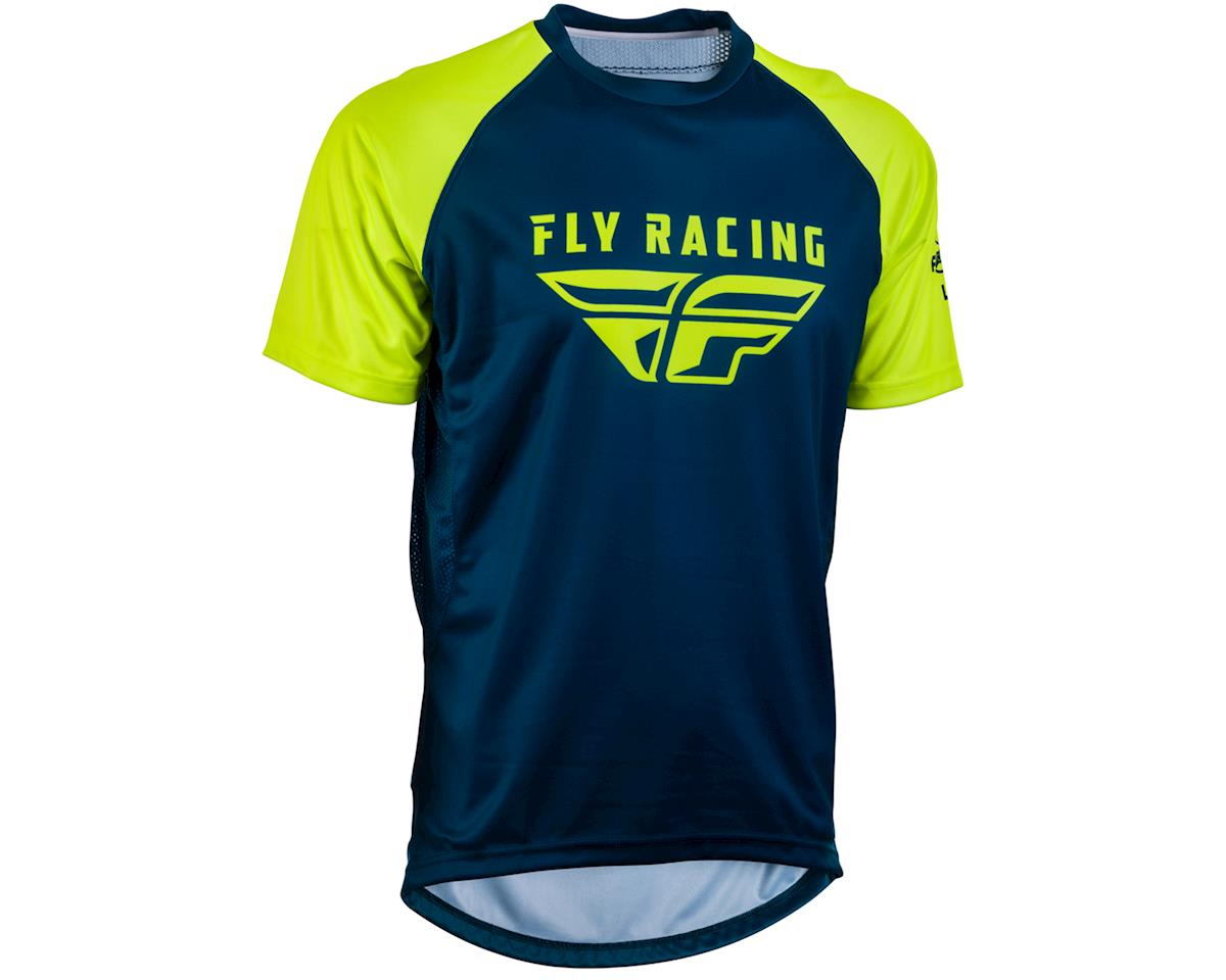 Fly Racing Super D Jersey (Navy/Hi-Vis) (L)