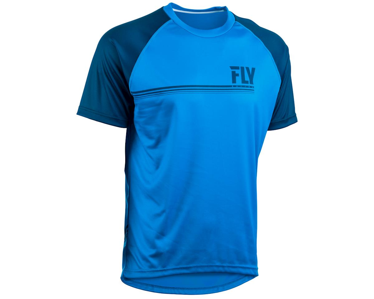 Fly Racing Action Mountain Bike Jersey (Blue/Charcoal Grey) (M)