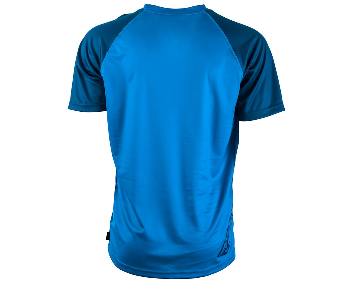 Fly Racing Action Mountain Bike Jersey (Blue/Charcoal Grey) (XL)