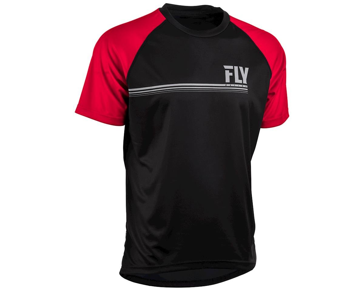 Fly Racing Action Mountain Bike Jersey (Black/Red) (2XL)