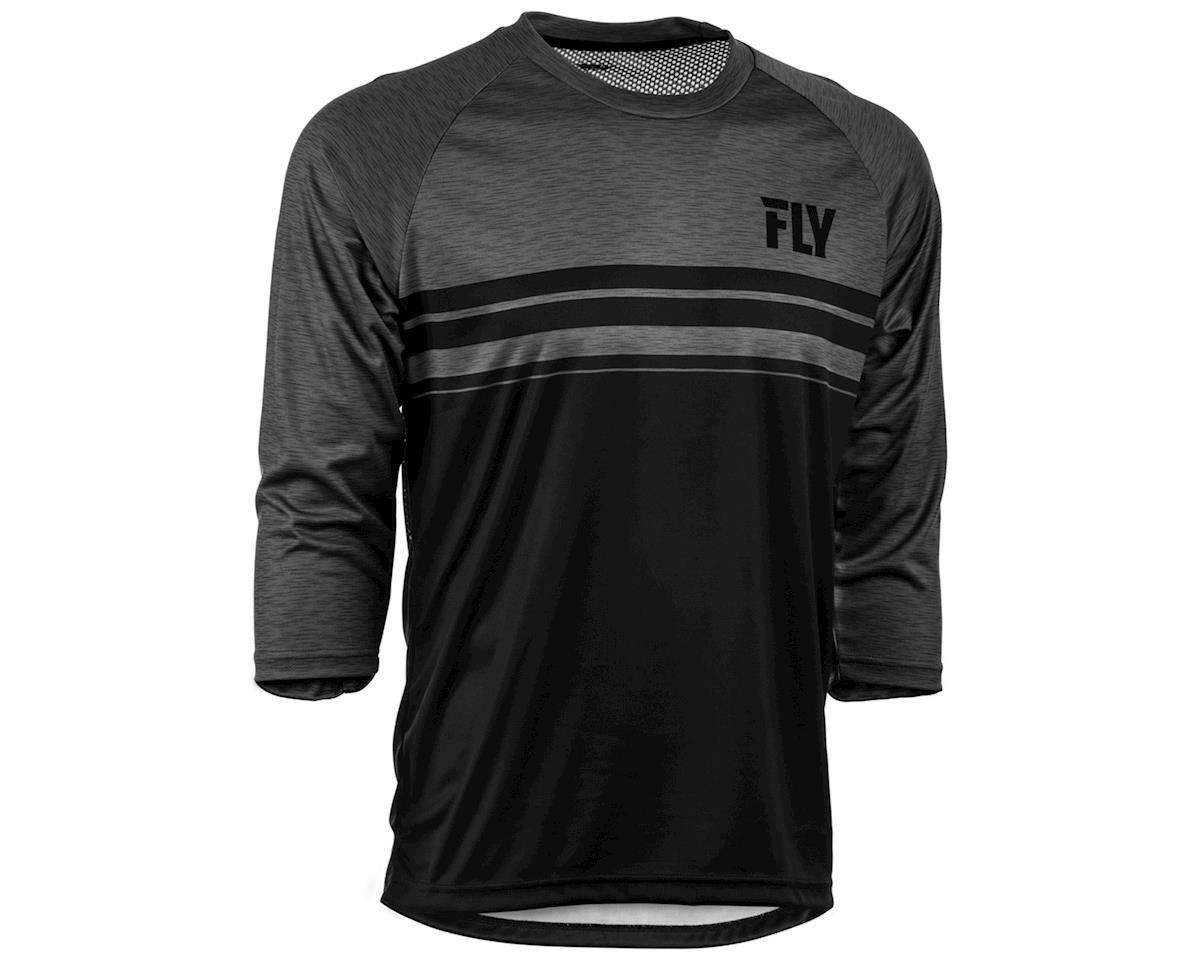 Fly Racing Ripa 3/4 Mountain Bike Jersey (Black/Heather Charcoal)