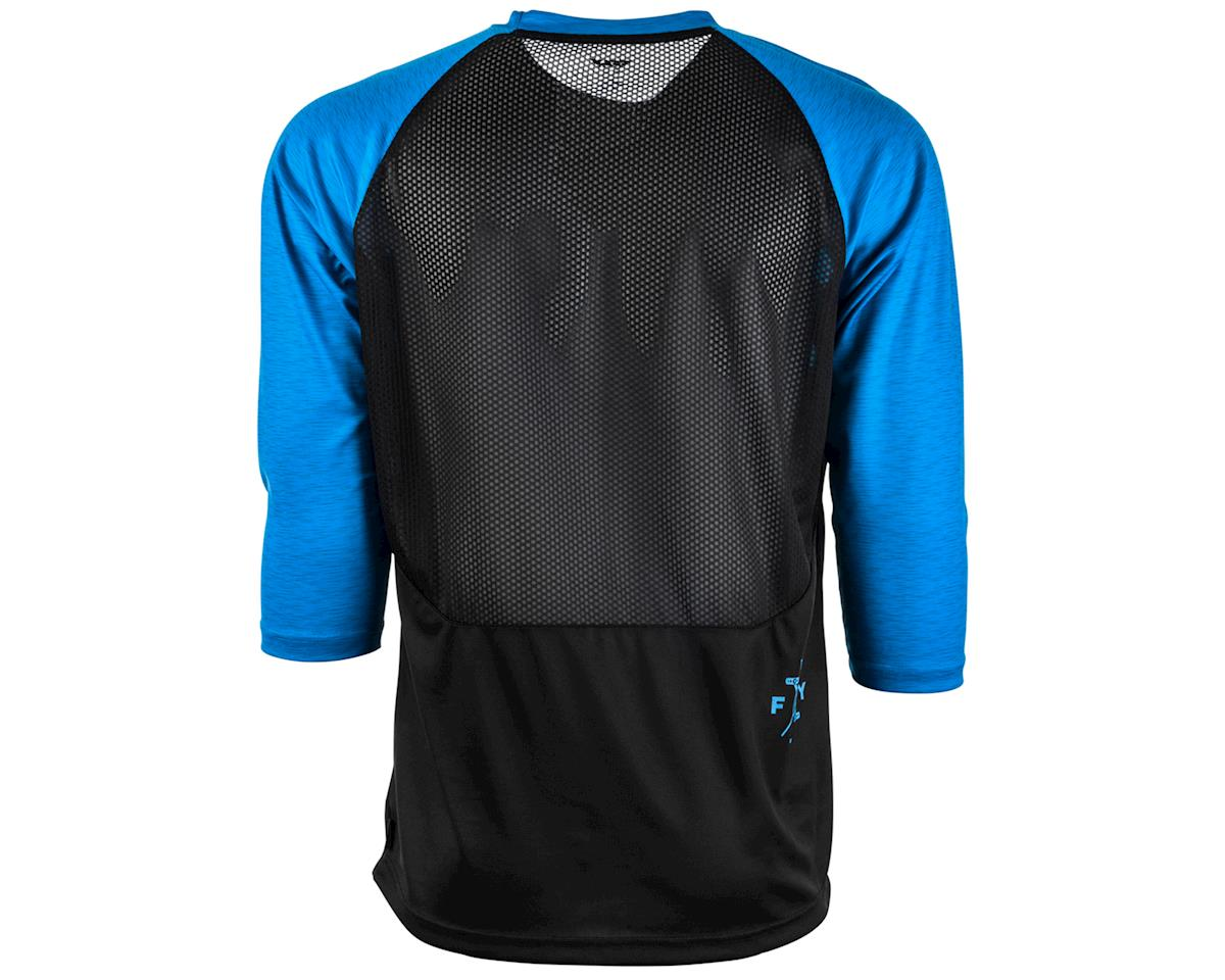 Fly Racing Ripa 3/4 Mountain Bike Jersey (Black/Heather Blue) (S)