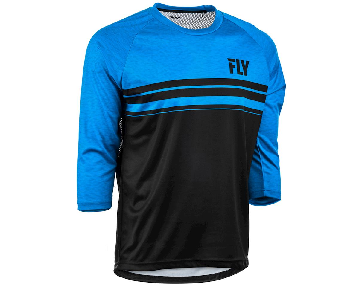 Fly Racing Ripa 3/4 Mountain Bike Jersey (Black/Heather Blue) (XL)