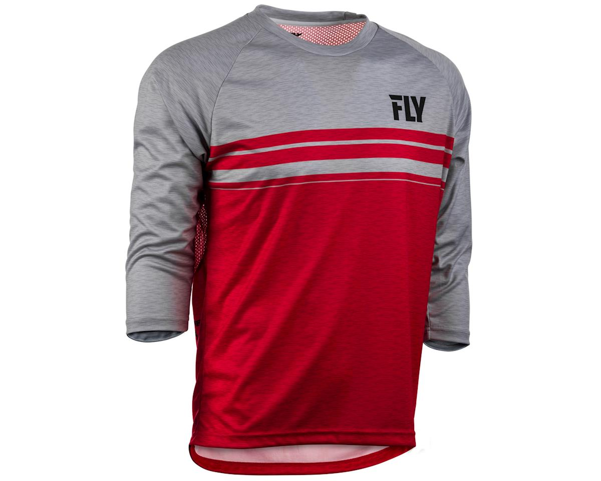 Fly Racing Ripa 3/4 Mountain Bike Jersey (Red/Heather Grey) (L)