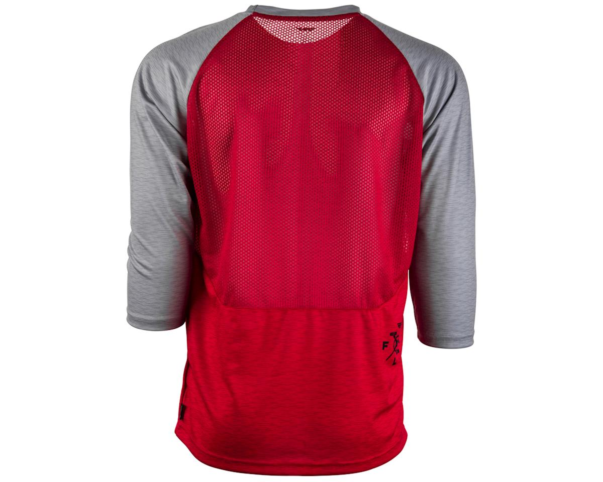 Fly Racing Ripa 3/4 Mountain Bike Jersey (Red/Heather Grey) (XL)