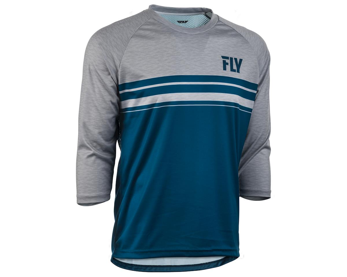 Fly Racing Ripa 3/4 Mountain Bike Jersey (Navy/Heather Grey) (L)