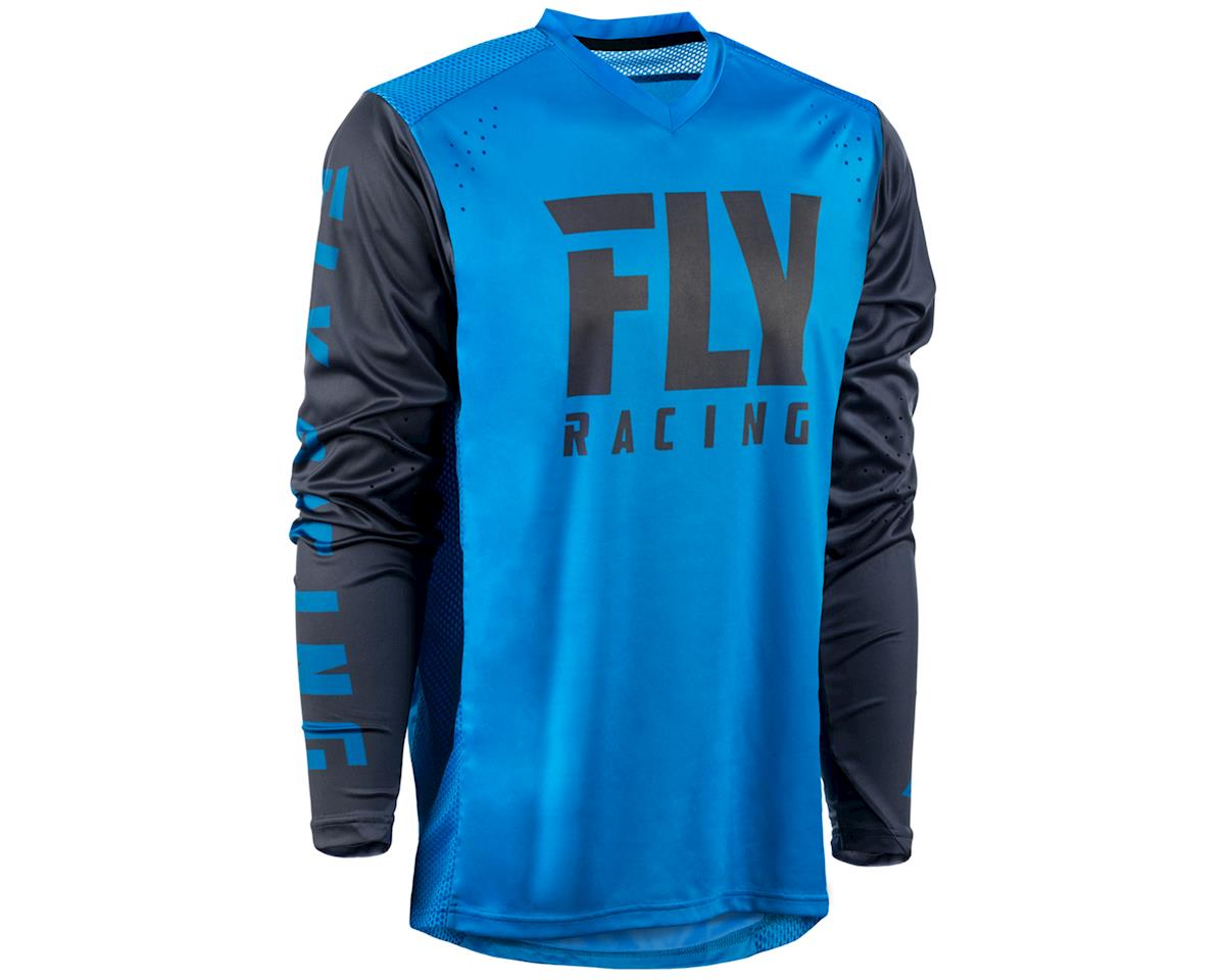 Fly Racing Radium Long Sleeve Jersey (Blue/Charcoal) (2XL)
