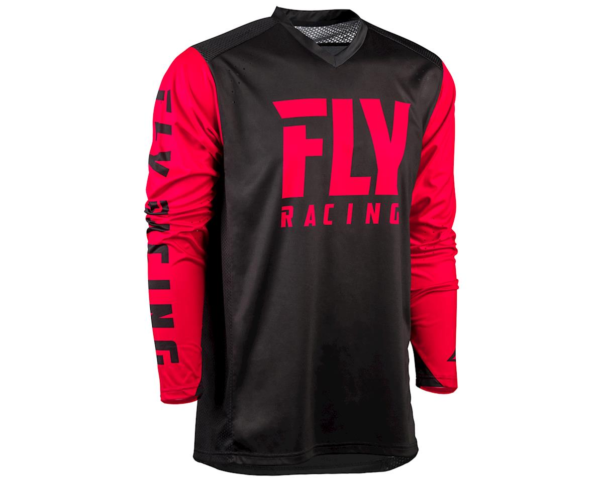 Fly Racing Radium Long Sleeve Jersey (Black/Red) (2XL)
