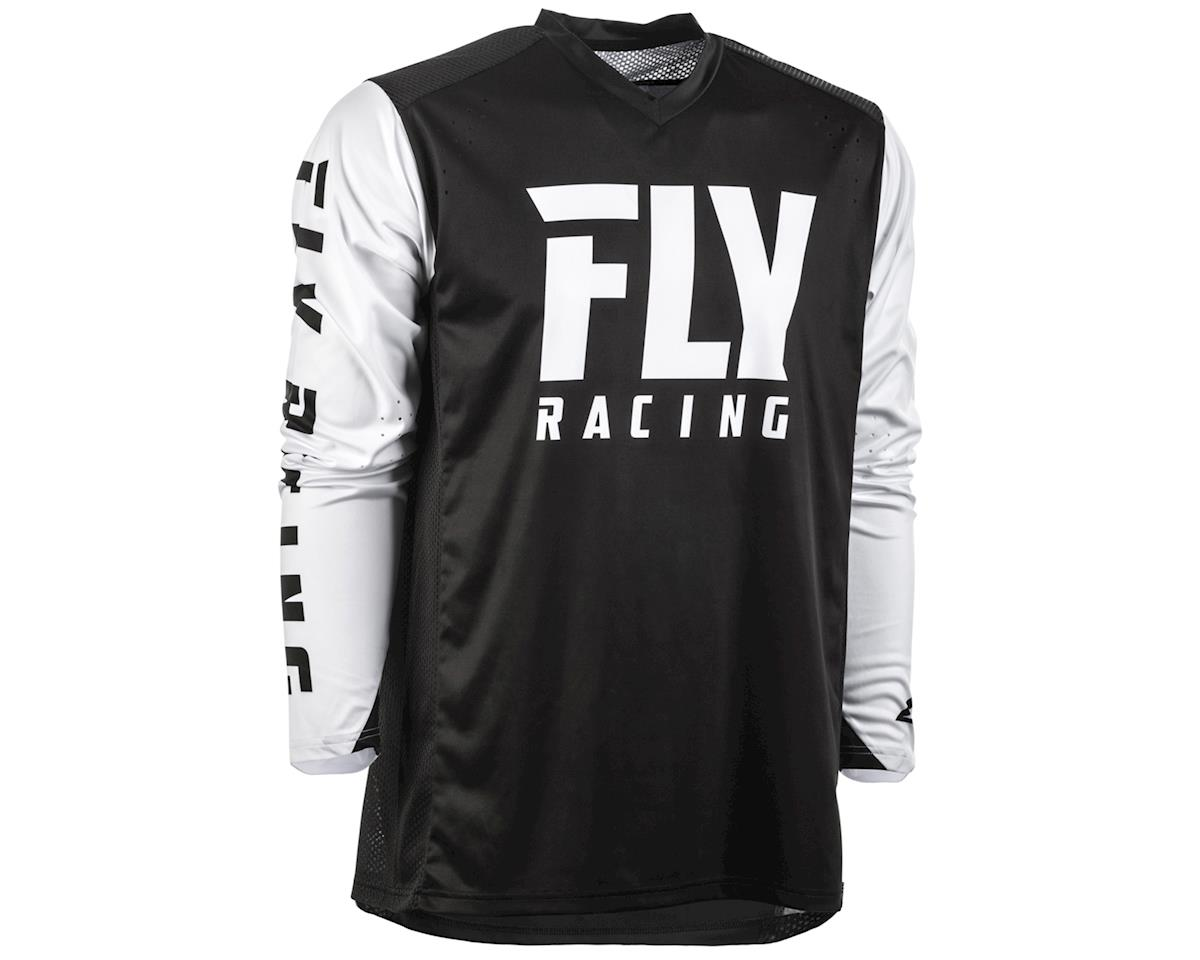 Fly Racing Radium Long Sleeve Jersey (Black/White) (S)